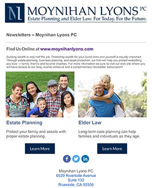 Moynihan Lyons PC Newsletter